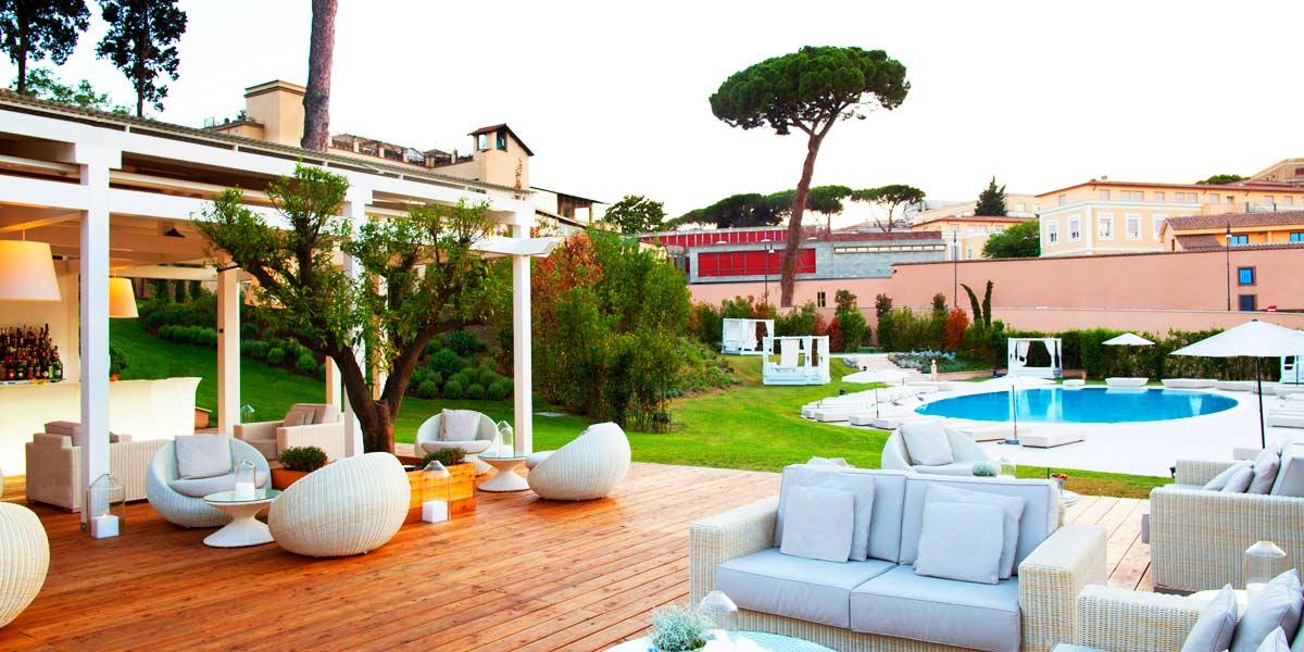 Gran melia rome villa agrippina event spaces prestigious for Villa agrippina rome