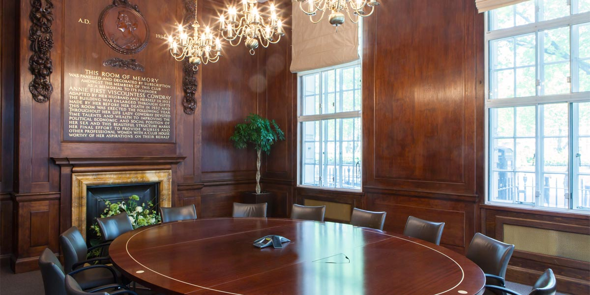 The Sarah Swift Room at 20 Cavendish Square
