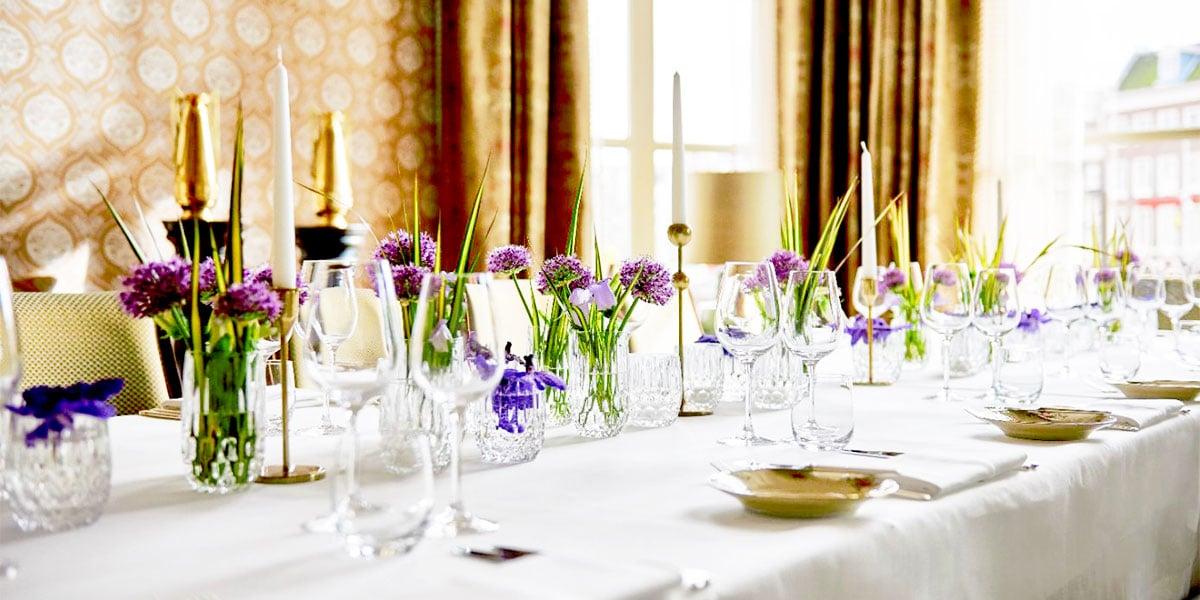 Brouwerskamer Table Setup, De L'Europe, Prestigious Venues
