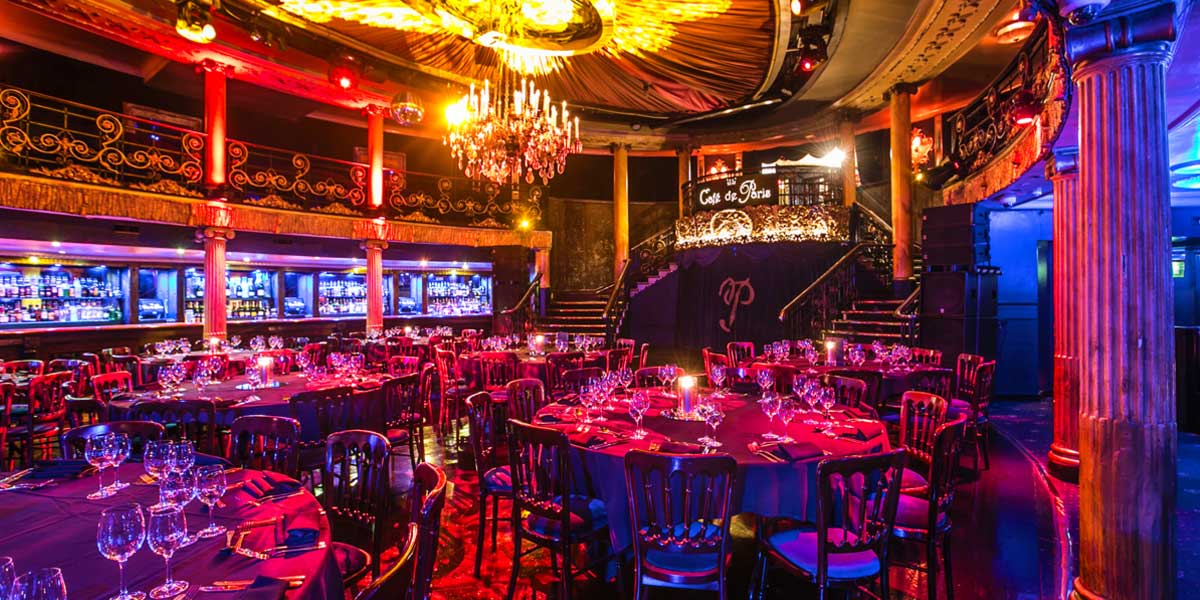 Christmas Party Venue, Cafe de Paris, Prestigious Venues