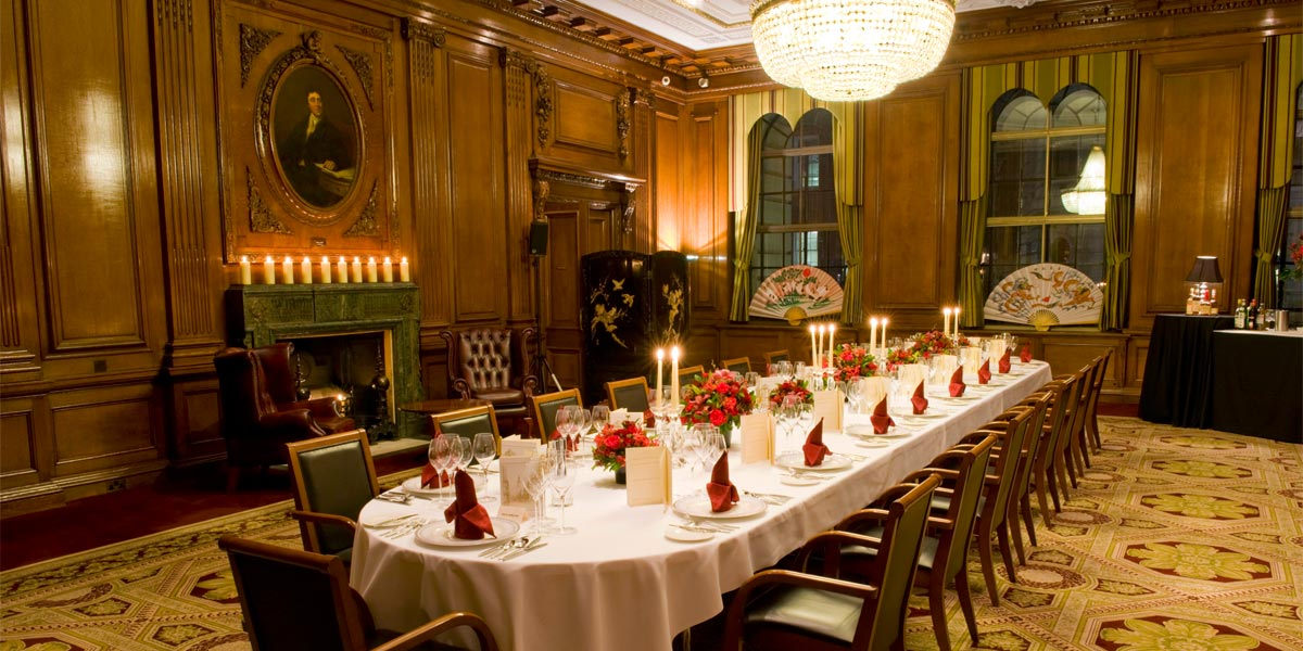 Dinner In The Council Room One Great George Street Prestigious Venues