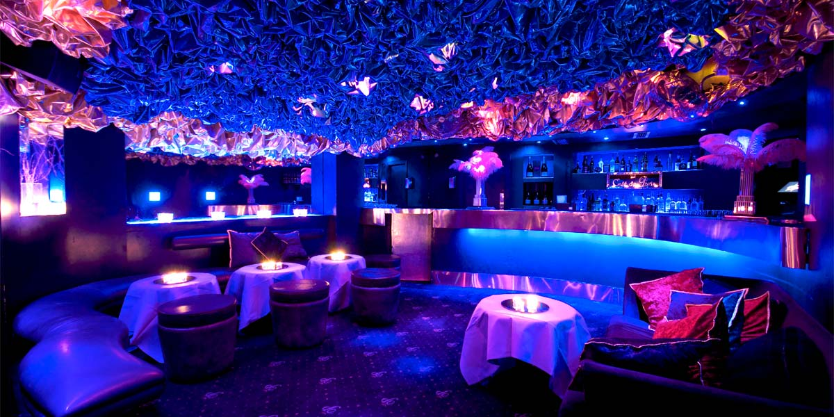 The Blue Bar at Cafe de Paris