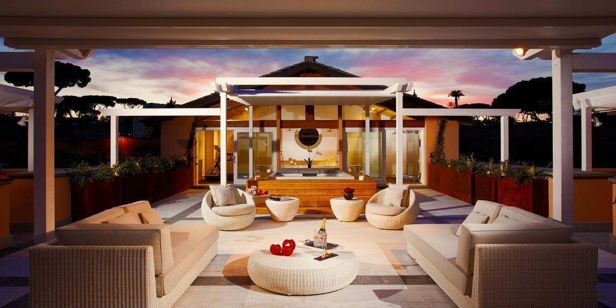 Emperor Penthouse Master Suite at Gran Melia Rome Villa Agrippina