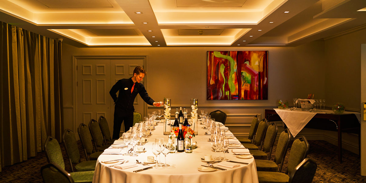Private Dining Setup, Sopwell House, Prestigious Venues