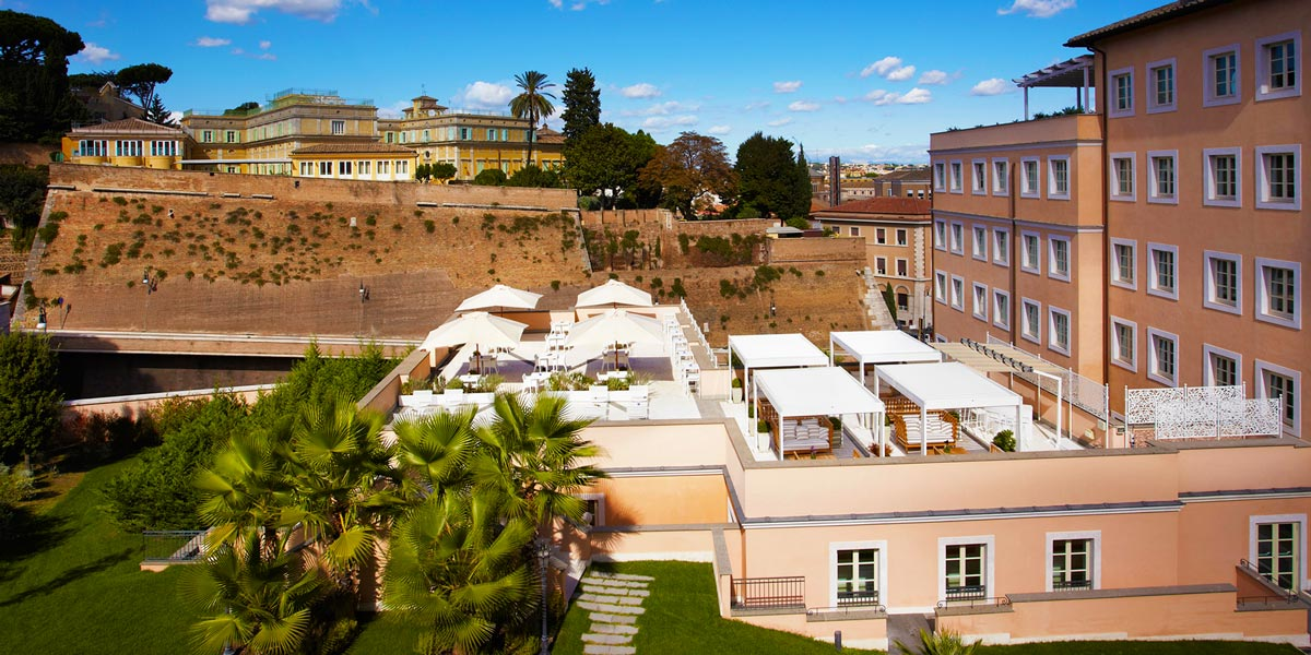 Lunae Terrace at Gran Melia Rome Villa Agrippina