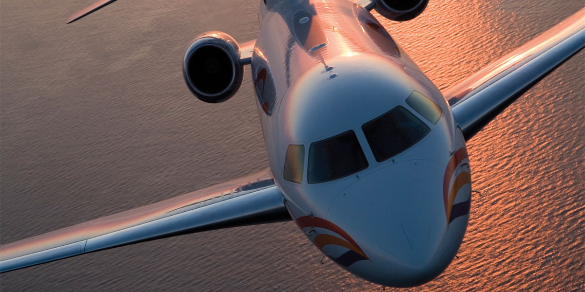 How To Fly Guests To Your Event, Flacon 7X, Hire A Private Jet, Air Partners, Prestigious Venues