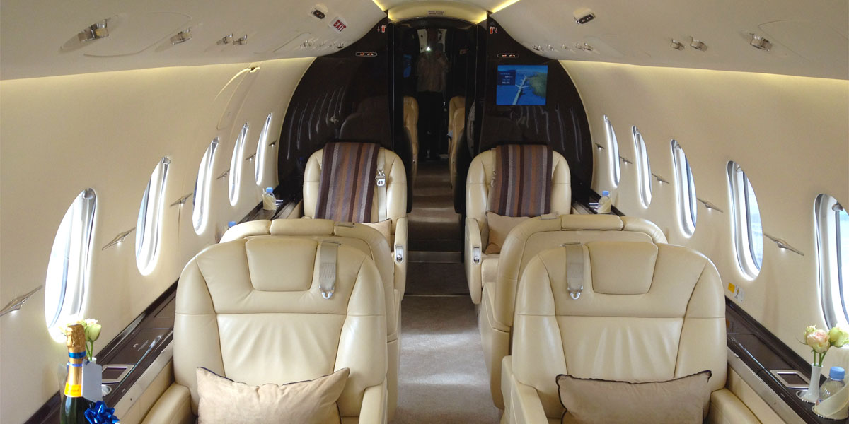 Hawker 4000 Interior, Air Partners, Prestigious Venues
