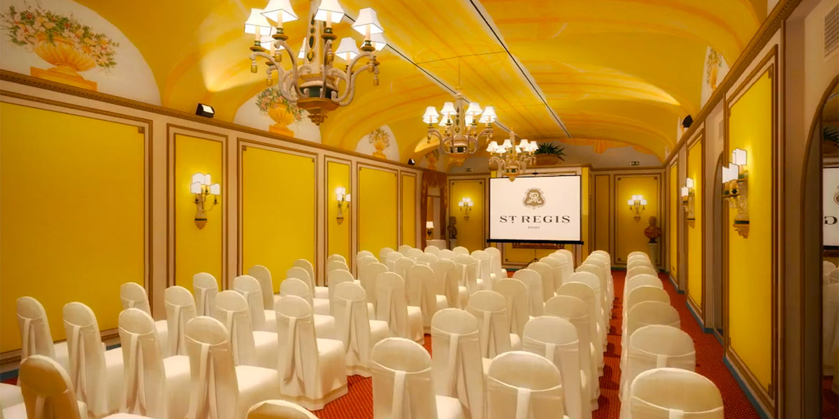 Meeting In Adornetto Room, St Regis Rome, Prestigious Venues