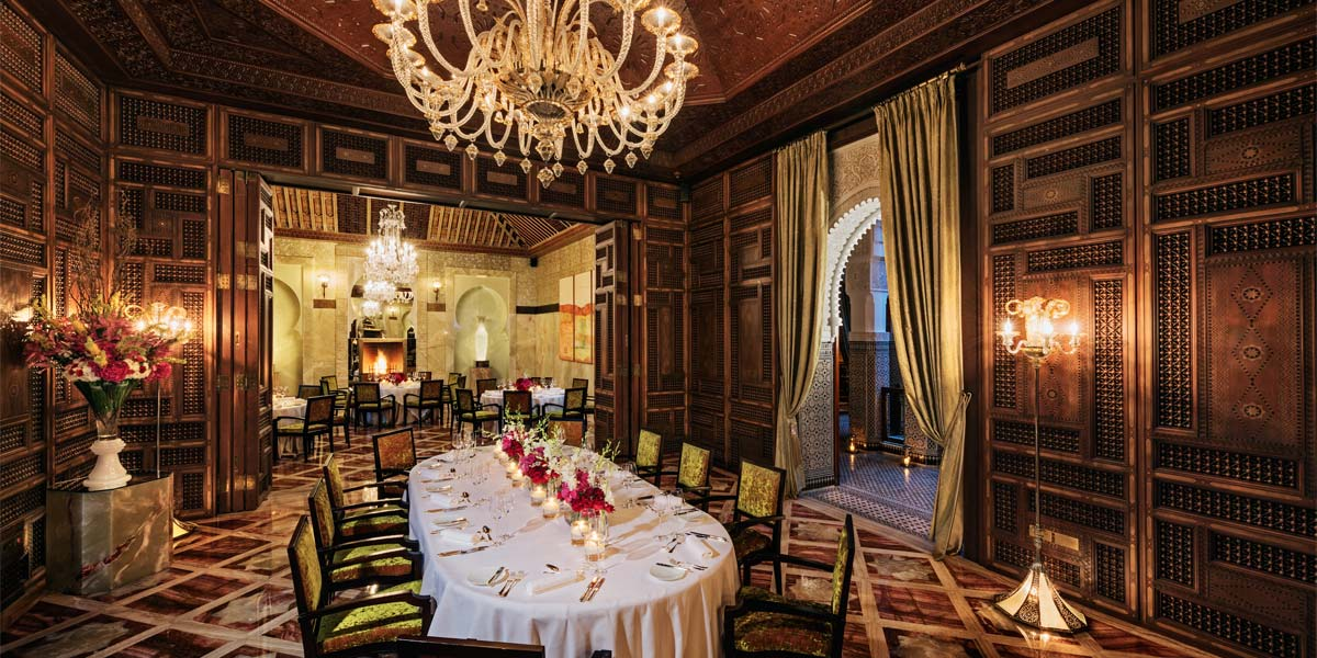 The Banqueting Room at Royal Mansour Marrakech