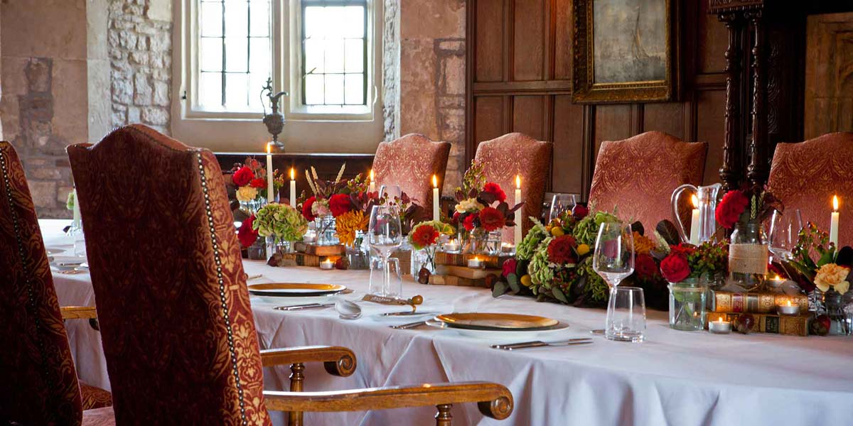 Private Dining In A Castle, Thornbury Castle, Prestigious Venues