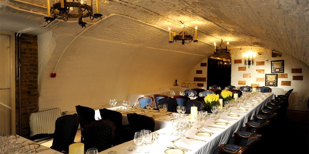 Private Dining In A Wine Cellar The Stafford London Prestigious Venues & Hire The Wine Cellars The Stafford London - Prestigious Venues