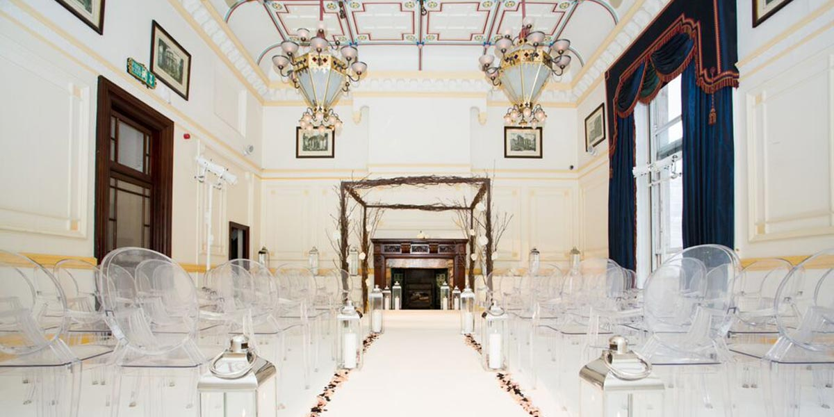 White Wedding In A Palace, One Whitehall Place, Prestigious Venues