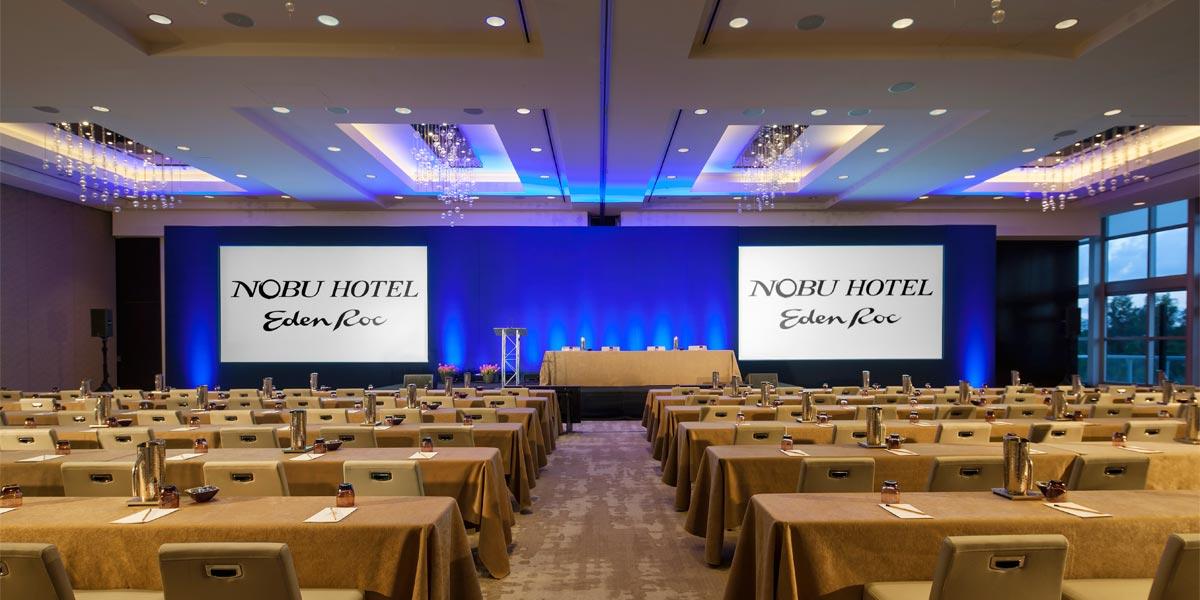 Training Venue In Miami, Nobu Eden Roc, Prestigious Venues