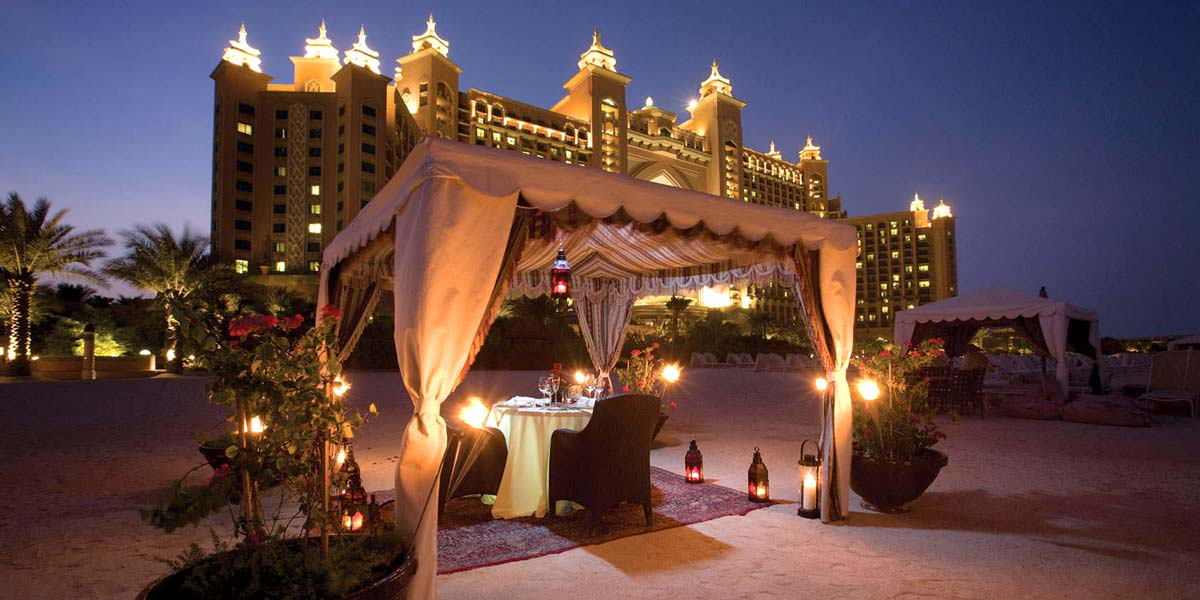 Reception Venue, Beach Dining In Dubai, Atlantis The Palm Dubai, Prestigious Venues