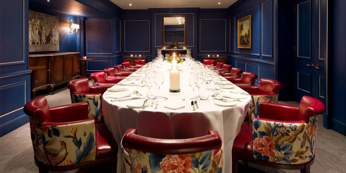 Private Dining in Mayfair, The Stafford London, Prestigious Venues