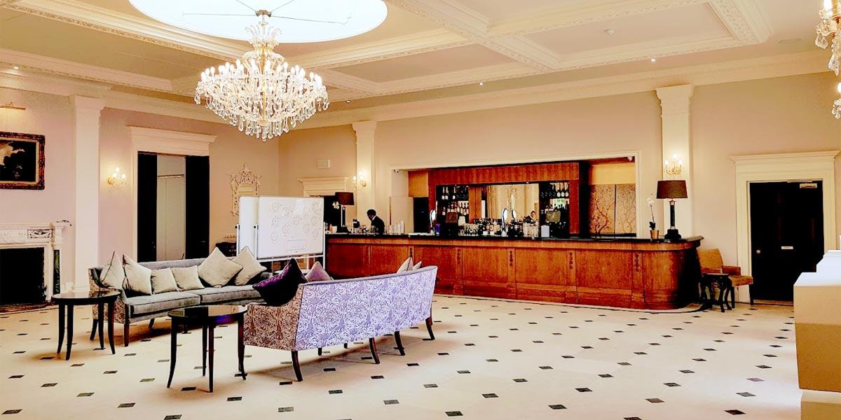 Reception Hall at The Orangery, Rushton Hall Hotel And Spa, Prestigious Venues