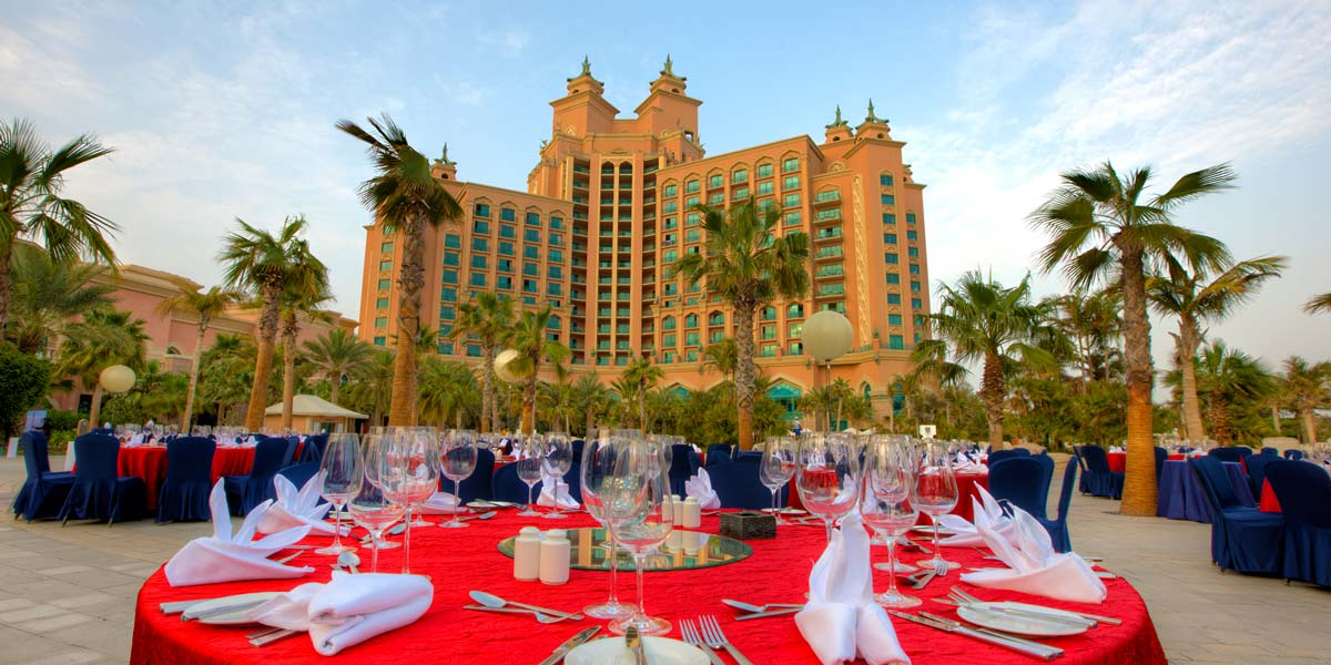 Royal Beach Gala Dinner Event, Atlantis The Palm, Prestigious Venues