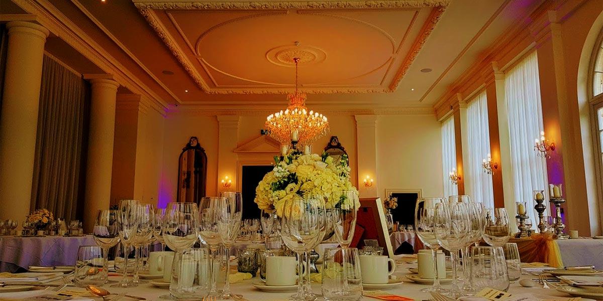 Wedding Reception, Rushton Hall Hotel And Spa, Prestigious Venues