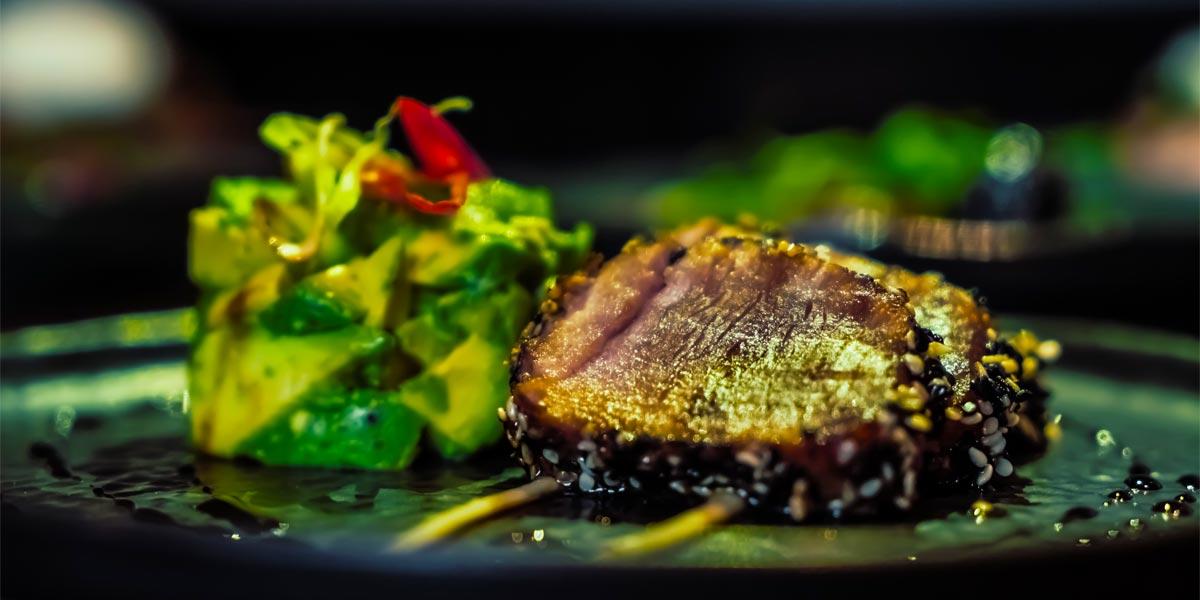 Yellowfin Tuna, Avocado and Wasabi, The Hyde Bar, The Royal Park Hotel, Prestigious Venues