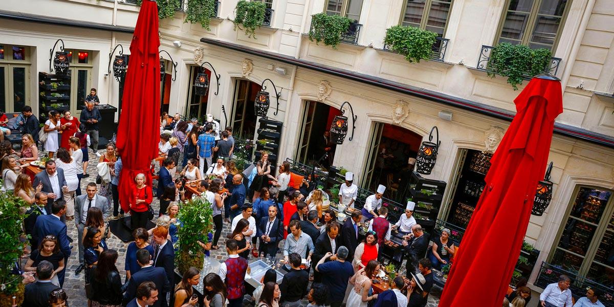 Summer Drinks Reception Venue in Paris, Buddha Bar Hotel Paris, Prestigious Venues