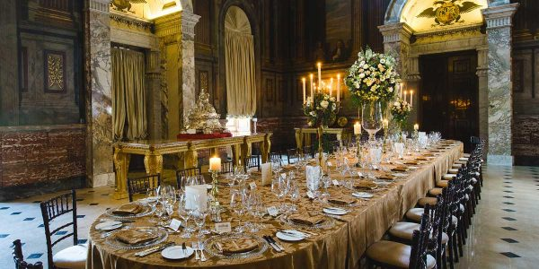 Christmas Party Venue, Private Dining in The Saloon, Blenheim Palace, Prestigious Venues