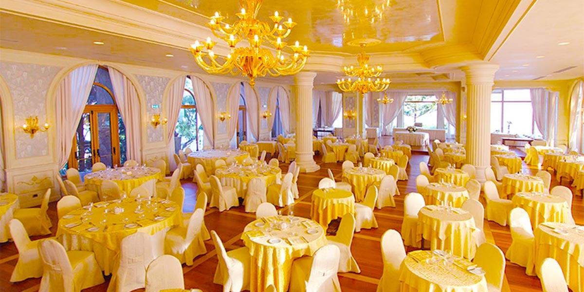 Round Table Dinner In The Dining Room, Salone delle Feste Sottomenu, Hotel Villa Diodoro, Prestigious Venues
