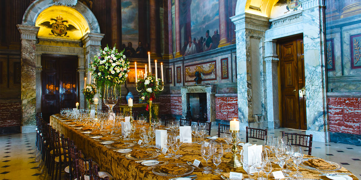 The Saloon Private Dinner, Blenheim Palace, Prestigious Venues