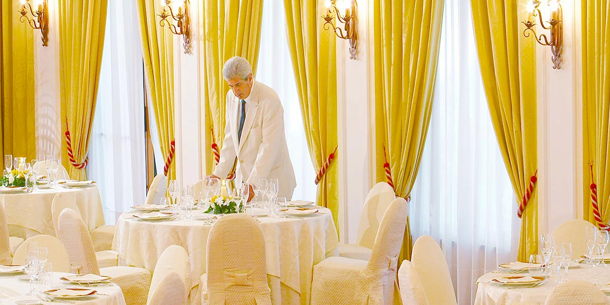 Wedding In The Dining Room, Salone delle Feste Sottomenu, Hotel Villa Diodoro, Prestigious Venues