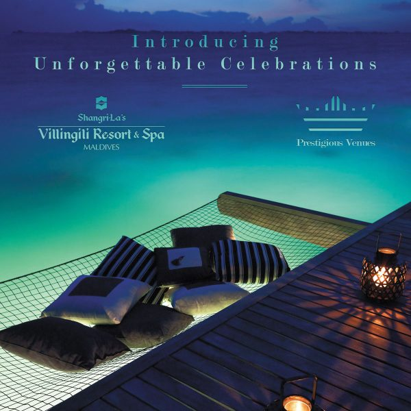 Introducing Unforgettable Celebrations, Shangri La Maldives, Prestigious Venues