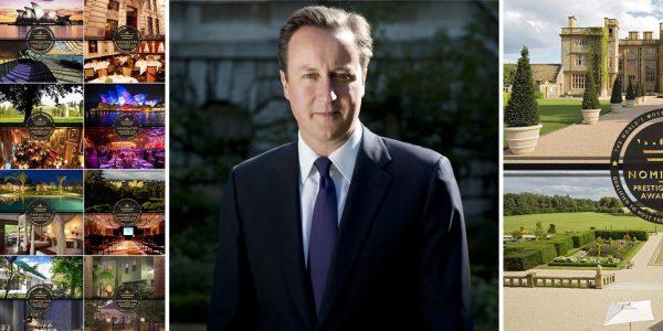 PM David Cameron, Most Prestigious Romantic Venue, Eynsham Hall, Prestigious Star Awards 2015