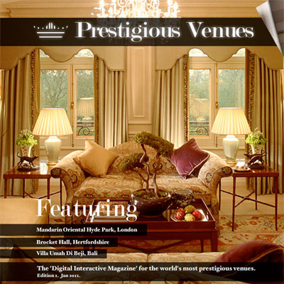 Prestigious Venues Magazine   The 1st Luxury Interactive Publication