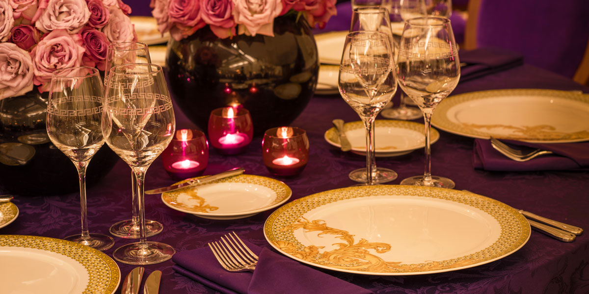 Ballroom Setup, Palazzo Versace Dubai, Prestigious Venues