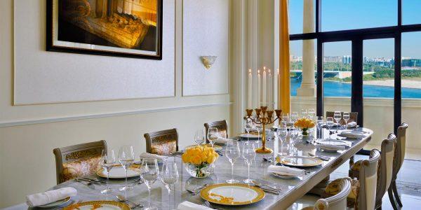 Dining Area, Imperial Suite, Palazzo Versace Dubai, Prestigious Venues
