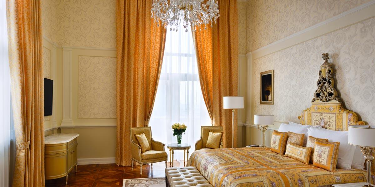 Signature Suite Bedroom, Palazzo Versace Dubai, Prestigious Venues