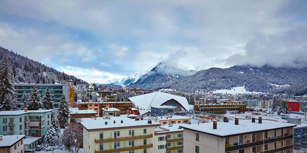 Rooftop Terrace Venue, Views from Rooftop Terrace, The 5th, Hard Rock Hotel Davos, Prestigious Venues