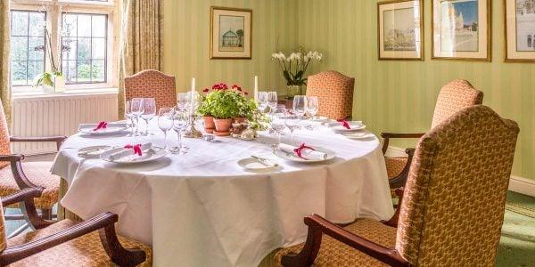 Corporate Private Dining Room, Lucknam Park Hotel & Spa
