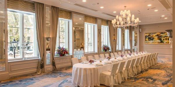 Ballroom Dining, Waldorf Astoria Amsterdam, Prestigious Venues