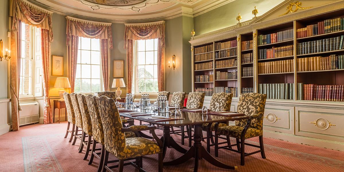 Library at Brocket Hall