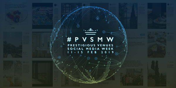 PVSMW 2019, Prestigious Venues Social Media Week, Header