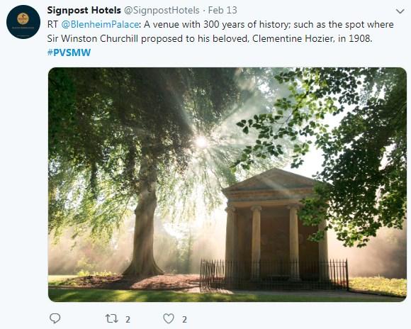 Blenheim Palace, Romantic Proposal Spots, PVSMW 2019, Prestigious Venues