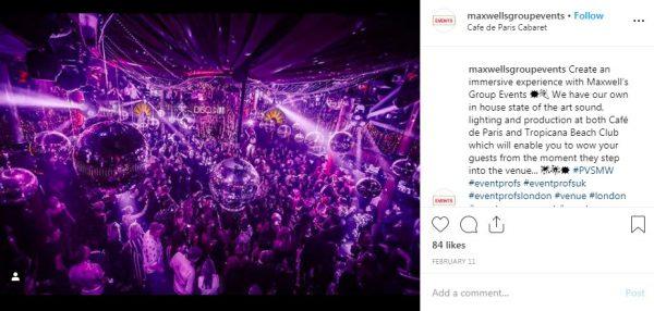 Cafe de Paris, Ballroom Venue, PVSMW 2019, Prestigious Venues