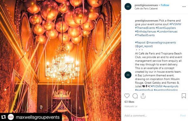 Cafe de Paris Cabaret, PVSMW 2019, Prestigious Venues
