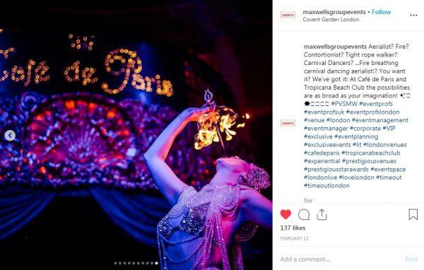 Cafe de Paris, Entertainment, PVSMW 2019, Prestigious Venues