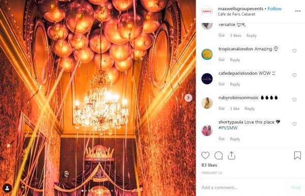 Cafe de Paris, PVSMW 2019, Prestigious Venues