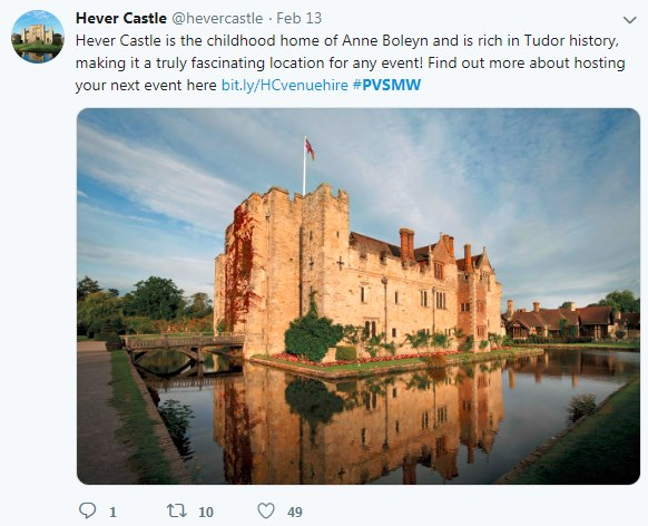 Hever Castle, PVSMW 2019, Prestigious Venues
