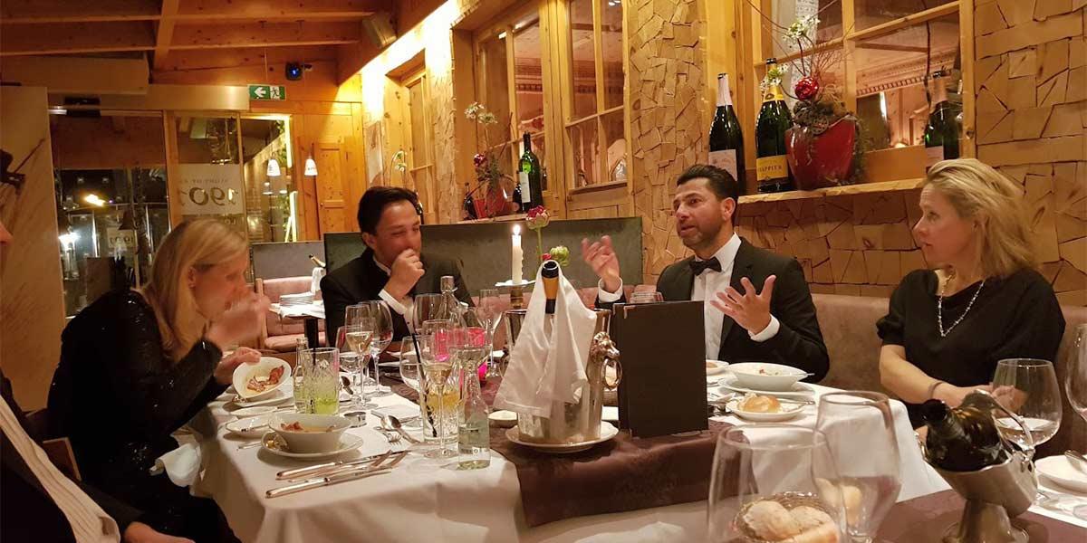 Hotel Maiensee Private Dinner, Hotel Maiensee Ski Trip 2019, Prestigious Venues