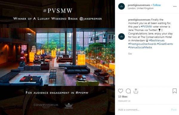 Jane Thomas, PVSMW 2019, Prestigious Venues