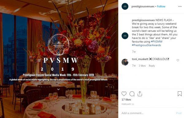 PVSMW 2019, Prestigious Venues