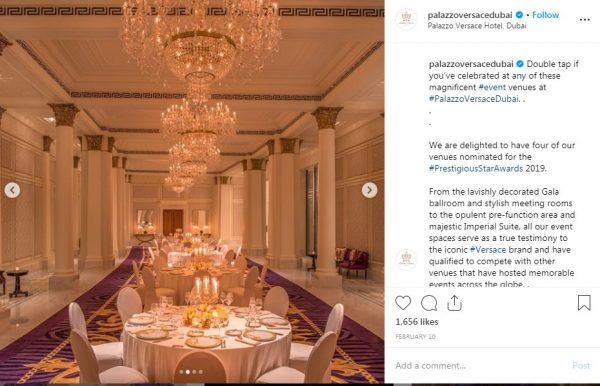 Palazzo Versace Dubai, Ballroom, PVSMW 2019, Prestigious Venues