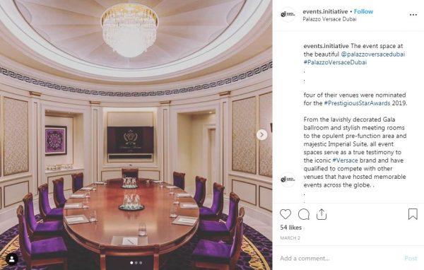 Palazzo Versace Dubai, Boardroom, PVSMW  2019, Prestigious Venues